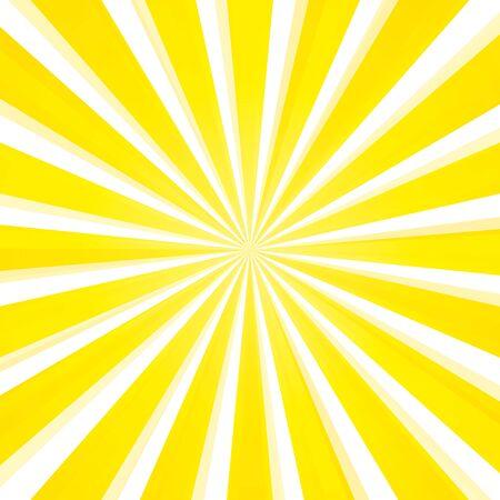 Vector illustration abstract light yellow sun rays background. 向量圖像