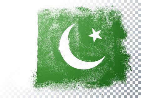 Vector illustration of vintage grunge texture flag of Pakistan