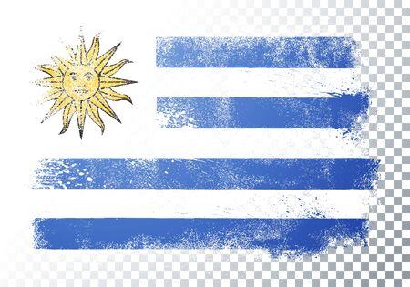 Vector illustration of vintage grunge texture flag of uruguay Illusztráció