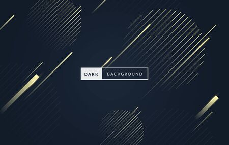 Vector illustration luxury dark black and gold premium background with golden elements