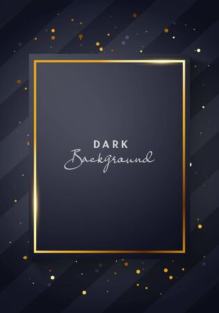 Vector Illustrartion Minimal Dark Black And Gold Poster Template. Luxury And Elegant Background Stock Illustratie