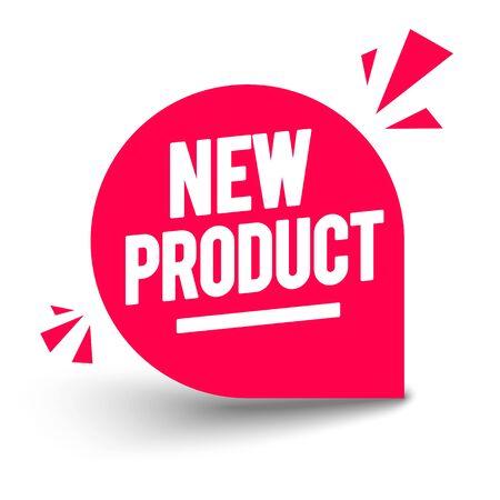 Vector illustration Red New Product Bagde. Modern web banner element
