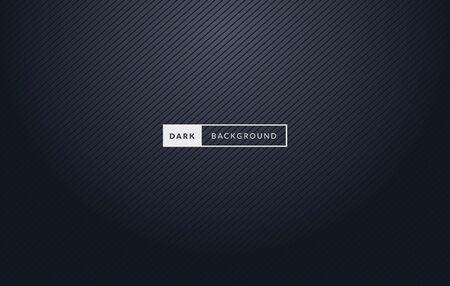 Vector Illustration Dark Black Premium Background With Stripes.