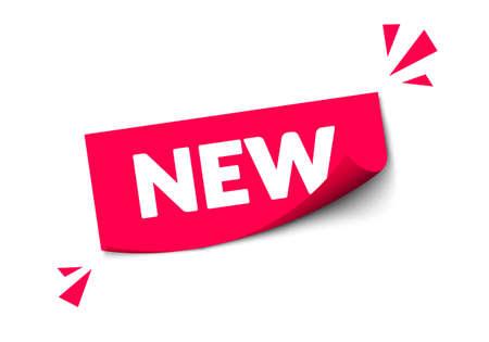 Vector Illustration New Sticker Label. Modern Red Web Banner. Illusztráció