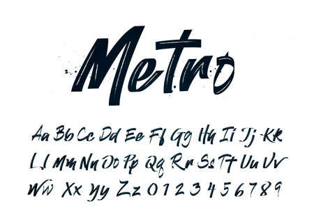 Vector Illustration Handdrawn Calligraphy Brush Script. Modern Handmade Style Typography