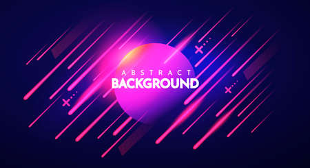 Vector Illustration Colorful Abstract Dark Retro Background With Gradient