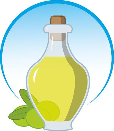 botella de aceite de oliva: botella de aceite de oliva