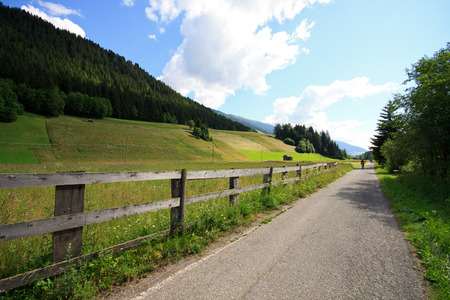 stretch of the bike path San Candido - Lienz  Val Pusteria