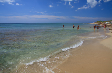 Pescoluse beach in Salento