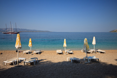 brac: Zlatni Rat beach, in Bol on the  island of Brac