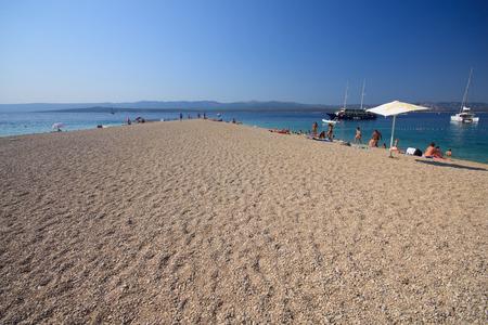 Zlatni Rat beach, in Bol on the  island of Brac