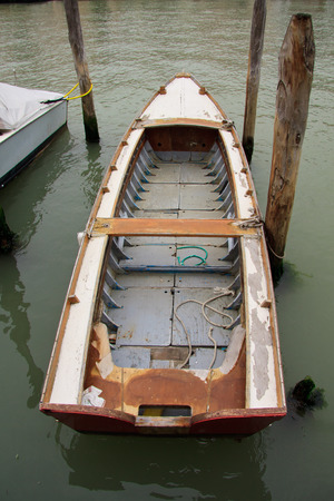 murano: boat in Murano, Venice Stock Photo