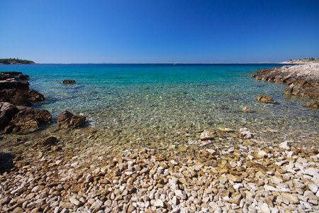 murter: Podvr�ke beach in Murter - Croatia Stock Photo