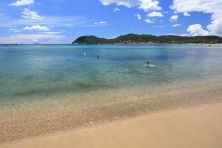 beach of Marina di Campo, Elba Island