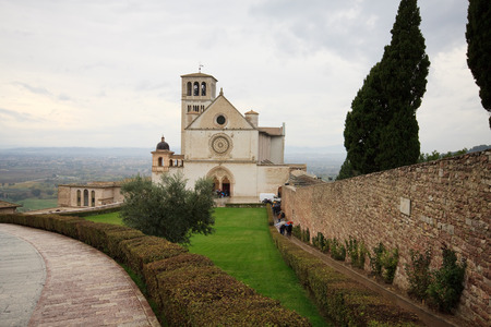 st  francis: Basilica of St Francis in Assisi Stock Photo