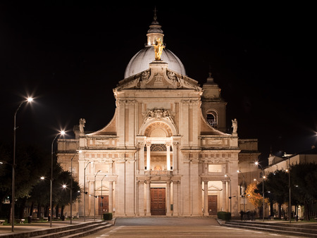 angeli: Basilica of Santa Maria degli Angeli  Umbria Stock Photo