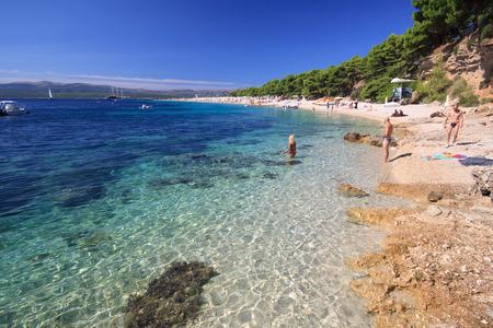 Zlatni Rat Beach - Bol  Croatia  Stock Photo