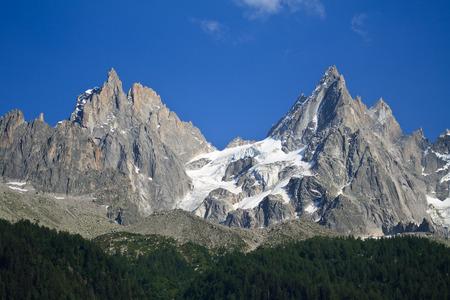 blanc: Dru - Mont Blanc Stock Photo