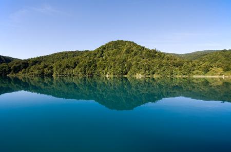 lake in Plitvice National Park photo