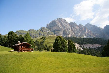 cisles: The Odle from Alpe of Cisles in  Val Gardena  Editorial
