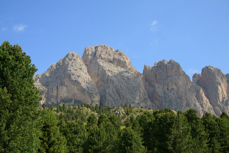 The Odle from Alpe of Cisles in  Val Gardena  Stock Photo