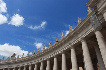 st peter s square: St. Peter square - Rome Stock Photo