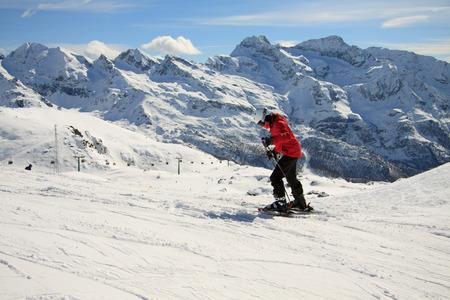 pista: sciatore sulle piste