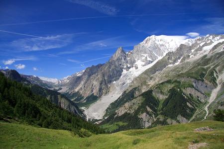 Mont Blanc from the refuge Bertone Banco de Imagens