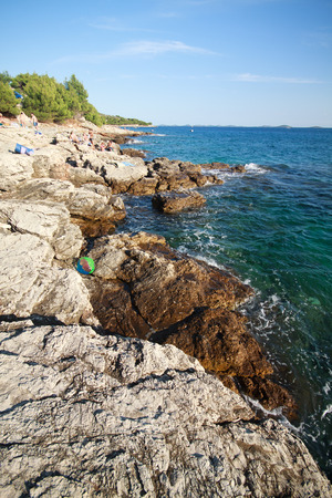 murter: cliff in Murter - Croatia Stock Photo