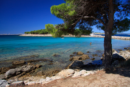 murter: Podvrske beach in Murter - Croatia Stock Photo