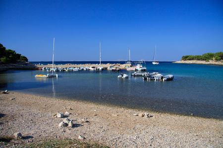 murter: Cigrada beach in Murter - Croatia Stock Photo