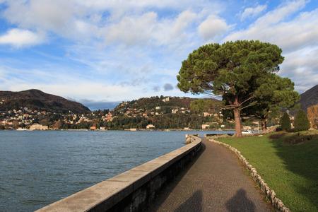 lakefront: lakefront in Como Stock Photo