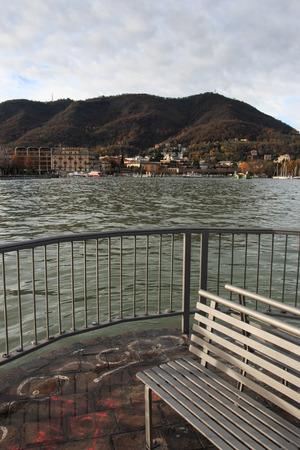 como: lakefront in Como Stock Photo