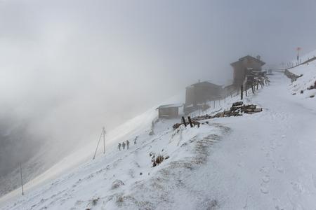 nebbia: Monte Generoso nella nebbia