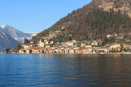 isola: Peschiera Maraglio - Monte Isola,lake Iseo Stock Photo