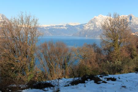 isola: Lake Iseo from Monte Isola