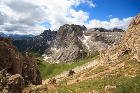 rosengarten: Rosengarten group of Antermoia, Dolomites Stock Photo