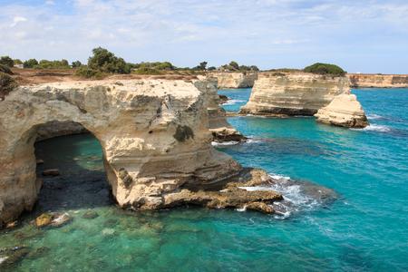 puglia: cliff in Torre SantAndrea - Salento, Puglia