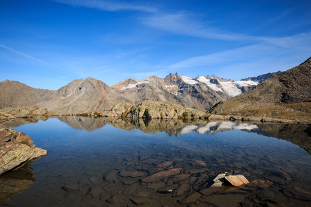 lake of Lauson, at the Vittorio Sella refuge - Gran Paradiso National Park