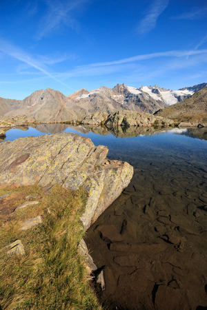 Lauson pond at the Vittorio Sella refuge - Gran Paradiso National Park