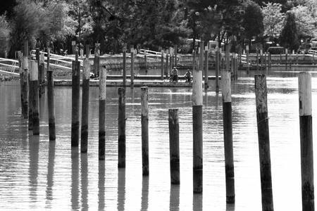 lagoon of Bibione 스톡 콘텐츠 - 97700546