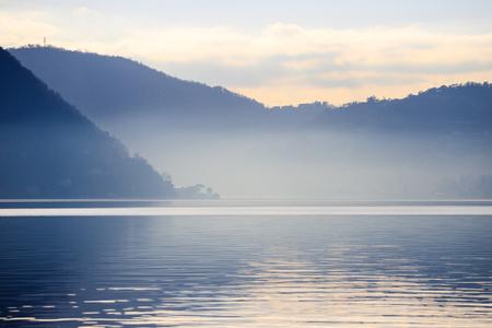 landscape of Lake Como from Torno