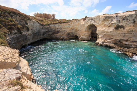 cliff in Torre SantAndrea - Salento, Puglia
