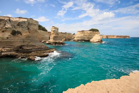 cliff in Torre SantAndrea - Salento, Puglia