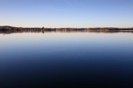 lake of Pusiano - Brianza, Lombardy Banco de Imagens