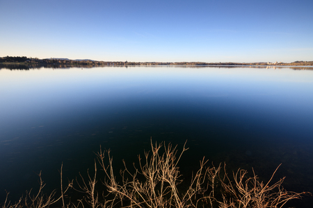 lake of Pusiano - Brianza, Lombardy Stock Photo