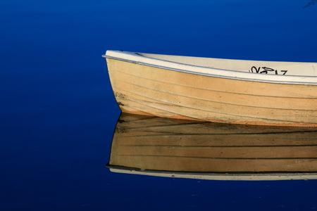 boat in the lake Banco de Imagens