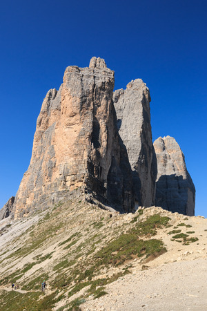 three peaks of Lavaredo - Dolomites Stock Photo
