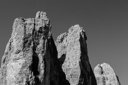 three peaks of Lavaredo - Dolomites Stock Photo