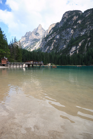 Braies lake - Dolomites Editorial